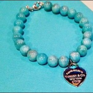 Tiffany&Co blue beaded bracelet